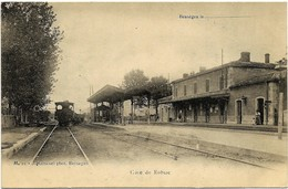 E7 Gard 30 ROBIAC La Gare Arrivée Du Train N'a Pas Circulé - France