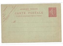 FRANCE Entier Postale Neuf 10 Cts Rose Sur Vert - Cartes-lettres