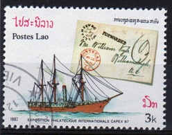 Laos 1987 Single 3k Stamp From The Capex 87 Stamp Exhibition Set. - Laos