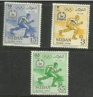 Sudan - 1960 Rome Olympics MLH *  SG 161-3  Sc 130-2 - Sudan (1954-...)