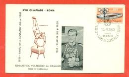 GINNASTICA -OLIMPIADI ROMA 1960 - MEDAGLIA ORO SHAKLIN - Ginnastica