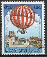 Laos 1983 Single 50c Stamp From The Bi-centenary Of Manned Flight Set. - Laos