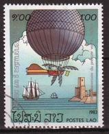 Laos 1983 Single 1k Stamp From The Bi-centenary Of Manned Flight Set. - Laos