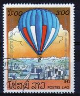 Laos 1983 Single 3k Stamp From The Bi-centenary Of Manned Flight Set. - Laos