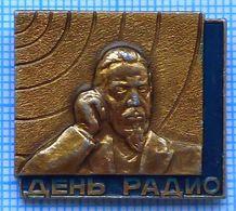USSR / Badge / Soviet Union / RUSSIA  Radio Day. Popov. Connection 1980s - Associations
