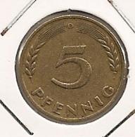 GERMANY ALLEMAGNE ALEMANHA 5 PFENNIG  1949 D 252 - [ 6] 1949-1990 : GDR - German Dem. Rep.