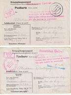 Correspondance Adressee Par Prisonier De Guerre Au Stalag Par Saint Jean De Luz,2x - Poststempel (Briefe)