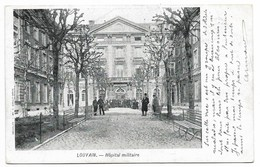 CPA PK  LOUVAIN  HOPITAL MILITAIRE  CARTE ANIMEE - Belgique