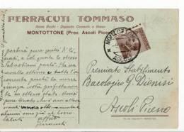 3610 ASCOLI PICENO MONTATTONE FERRACUTI SEME BACHI - 1900-44 Vittorio Emanuele III