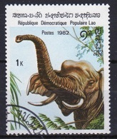 Laos 1982 Single 1k Stamp From The Indian Elephant Set. - Laos
