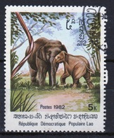 Laos 1982 Single 5k Stamp From The Indian Elephant Set. - Laos