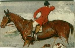 TUCK'S POSTCARD SIGNED PHILIP E. STRETTON - HORSE - HUNTING FOX - BREED - N. 2765 (BG422) - Tuck, Raphael