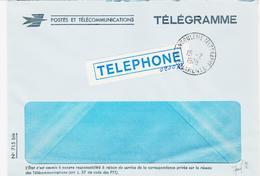 France, D'Angoulème Télégraphe En 1978 Enveloppe Pour Télégramme TB - Marcophilie (Lettres)
