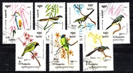 Kampuchea 1984 Mi.nr: 550-556 Vögel  Oblitérés / Used / Gestempeld - Perroquets & Tropicaux