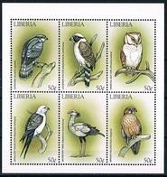 Bloc Sheet Oiseaux  Birds  Neuf MNH ** Liberia 1999 - Hiboux & Chouettes