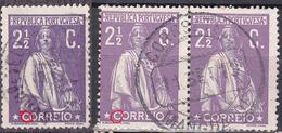 Portugal 2 1/2C Ceres  MANGUALDE 1913 Marcofilia + Same N/C Cliche-Used No Faults - Usado