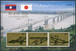 234 - Laos 2000  BF 151 A ; Block 180 A **  MNH  Mekong Bridge - Laos