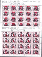 Europa Cept 1982 Liechtenstein 2v Sheetlets ** Mnh (F7881) - 1982