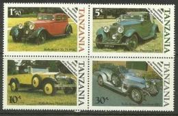 Tanzania - 1986 Motoring Centenary Set (block) MNH **   SG 456-9  Sc - Tanzania (1964-...)