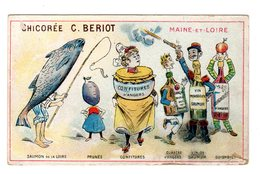 Chromo  France Gastronomique, Maine-et-Loire, Vin..., Chicorée Bériot, Lille - Trade Cards
