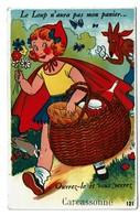 Carte à Système - Dépliant Multi-vues - Carcassonne - Petit Chaperon Rouge - Little Red Riding Hood - Edit Gaby -3 Scans - Carcassonne