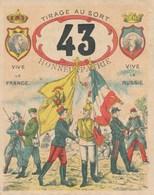 MILITARIA - Billet De Conscription - Tirage Au Sort N°43 - 21 Janvier 1900 - Documents