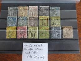 LOT COLONIES DÉESSE ASSISE NEUF*/OBLITÉRÉ COTE 360 EUROS VOIR SCANS - France (ex-colonies & Protectorats)