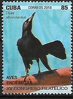 CUBA - MNH - 2018 -   Cuban Blackbird    Ptiloxena Atroviolacea - Zangvogels