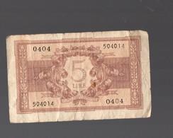 (Italie) Billet De 5 Lires 1944 (PPP19079) - [ 1] …-1946: Königreich