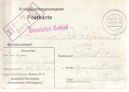Correspondance Adressee Par Prisonier De Guerre Au Stalag VI J,  Par Paris - Poststempel (Briefe)