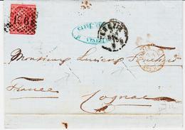 Italie Ede Veniza En 1873, Pour Cognac, Deux Encoches De Purification  TB - Poststempel