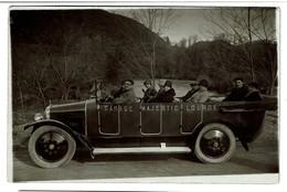 Carte - Photo Autocar - Autobus Excursion Garage Majestic Lourdes - 1928 - 2 Scans - Buses & Coaches
