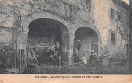 ELORRIO - CASERIO TIPICO. BARRIADA DE SAN AGUSTIN ~ AN OLD POSTCARD #94669 - Vizcaya (Bilbao)