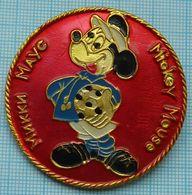 USSR / Badge / Soviet Union / Football. Footballer.  Mickey Mouse . Disney. 1970-80s - Disney