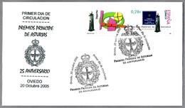 PREMIOS PRINCIPE DE ASTURIAS - 25 ANIVERSARIO. SPD/FDC Oviedo 2005 - Familias Reales