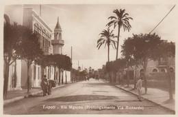12644-TRIPOLI(LIBIA)-VIA MGARBA-EX COLONIE ITALIANE-FP - Libia