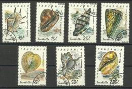 Tanzania - 1992 Seashells CTO    SG 1301-7  Sc 940-6 - Tanzania (1964-...)
