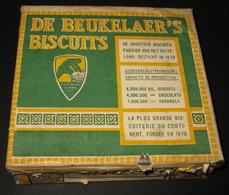 Rare ! C1920 - Blikken Doos / Boîte En Métal - Biscuits De Beukelaer - De Beukelaer's Biscuits - Anvers / Antwerpen - Dozen
