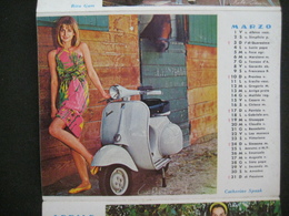 DA VEDERE A VOIR 1963 CALENDARIO CALENDAR CALENDRIER VESPA PIAGGIO SCOOTER DIVE FEMMES PIN UP - Calendari