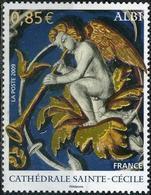 FRANCE Poste 4336 ** Tableau Cathédrale Saint-Cécile : Ange Avec Trompette - France