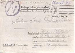 Correspondance Adresse Par Prisonier De Guerre Au Stalag VIII A, Görliz Par Province Braband - WW II