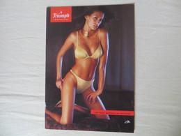 CPM Publicitaire Lingerie Maillot De Bain à Paillette Dorée  TRIUMPH PIN UP Sexy Ed Boomerang - Publicité