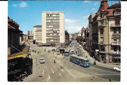 Cpsm Fribourg - Place Et Rue De La Gare . - FR Fribourg