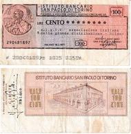 Italie 100 Lires - [10] Checks And Mini-checks
