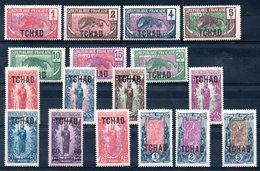 TCHAD - YT N° 1 à 18 (sauf 8) - Neufs * - MH - Cote: 97,50 € - Neufs