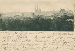 Blick Auf Halle Saale Gebr. Plettner  . P. Used 1899 To Le Coat Trémel Cotes Du Nord - Halle (Saale)