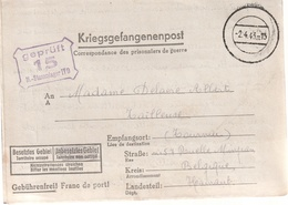 Correspondance Adressee Par Prisonier De Guerre De Stalag V D Par Province Hainaut - Marcophilie (Lettres)