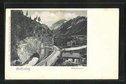 Cartolina Gossensass, Teilansicht Mit Wassertunnel - Italia