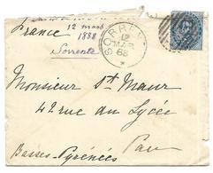 ITALIE Enveloppe Oblitération Sorrente 12 4 1888 - Marcophilie