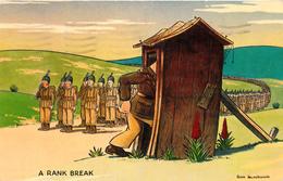 Comics Humor Comic Comique Humour - Soldiers Rank Break Toilet - Written 1956 - Stamp Postmark - 2 Scans - Humour